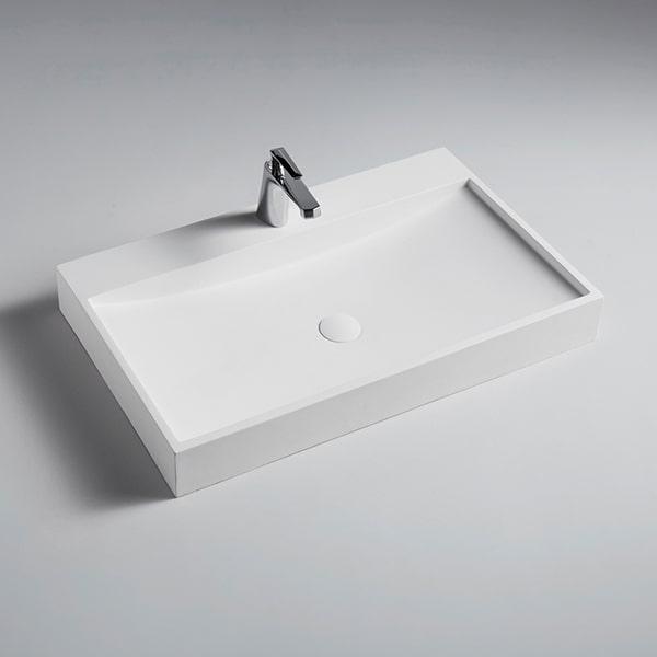 人造石柜盆 酒店家用长方形洗手盆 纯人造石洗手盆定制BS-800-8