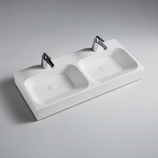 人造石柜盆 现代简约轻奢洗脸盆 台上盆洗漱台 卫浴洁具工厂BS-H14