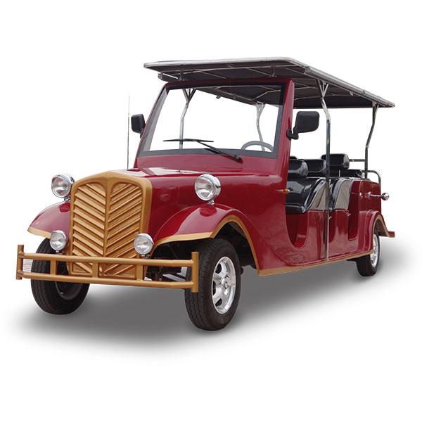 8 seater vintage electric car
