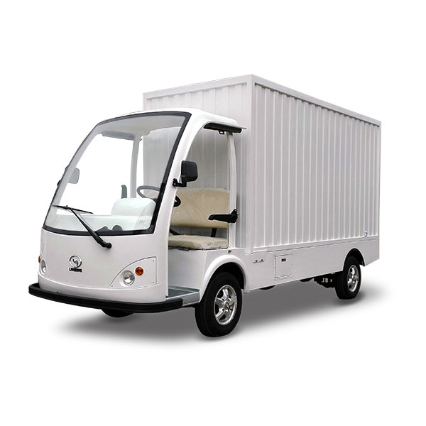 electric cargo truck with boxes