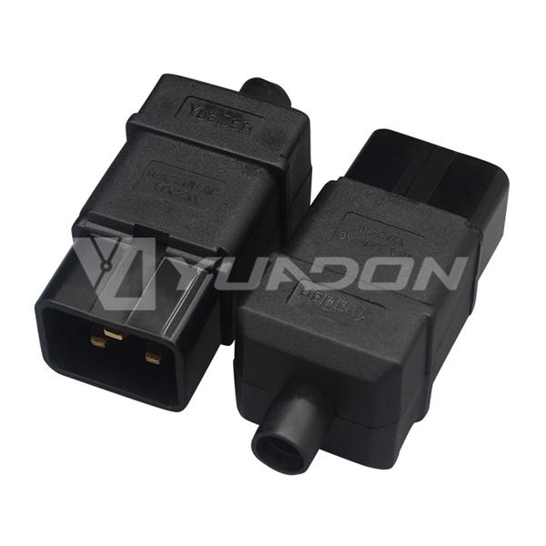 YD-C20 插头16A公母插头jrs直播免费直播台球三芯品字组装对接 可拆卸接线插头