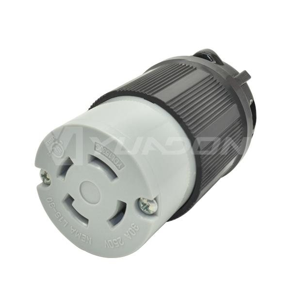 现货NEMA L15-30C美式组装连接器jrs直播免费直播台球 30A250V美标大功率工业jrs直播免费直播台球