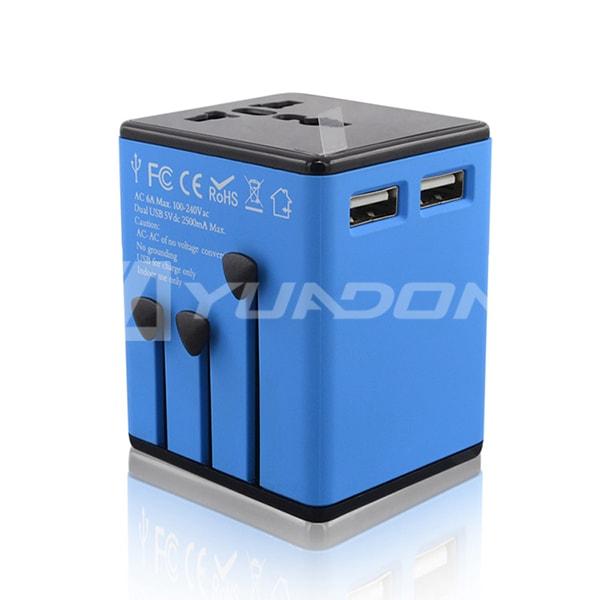 全球通转换插头带USB充电器 美式澳式英式欧式多国转换器转化插头