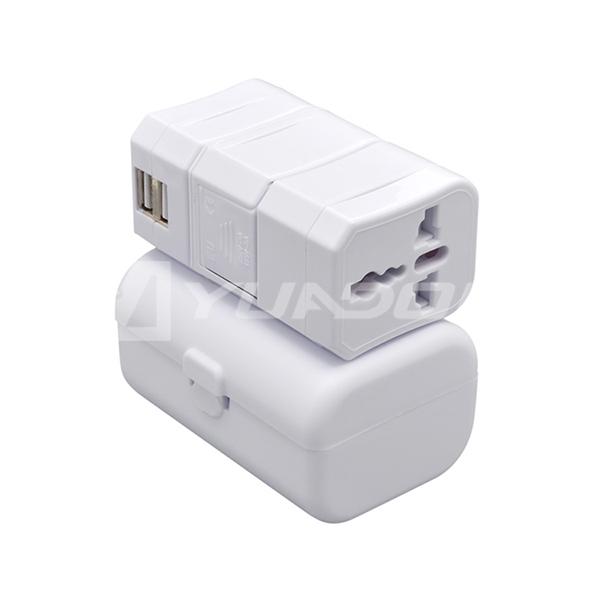 高品质双USB四合一旅行转换插 可拆分转接jrs直播免费直播台球