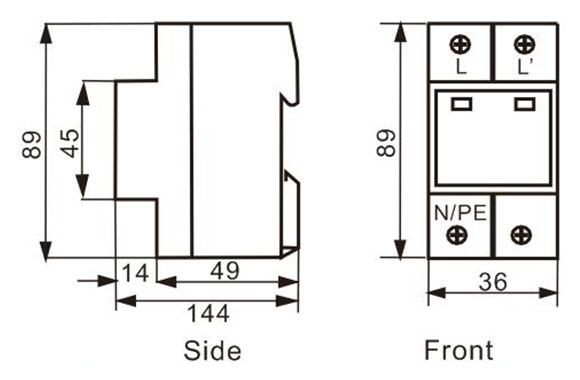 Surge Protectors for AC Power Supply System(T2) 09