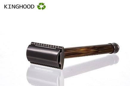KingHood Safety Razor With Bamboo Wood Handle