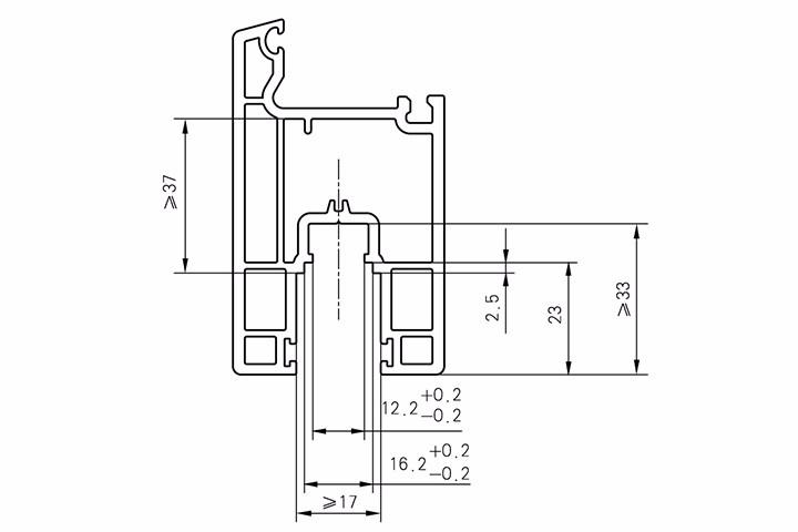 推拉门窗传动锁闭器槽及推拉门滑轮槽口尺寸