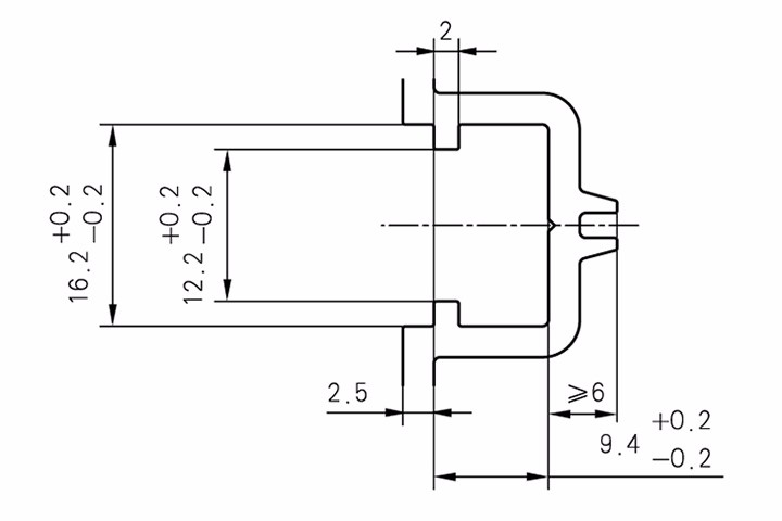 平开门窗传动锁闭器槽口(U槽)尺寸