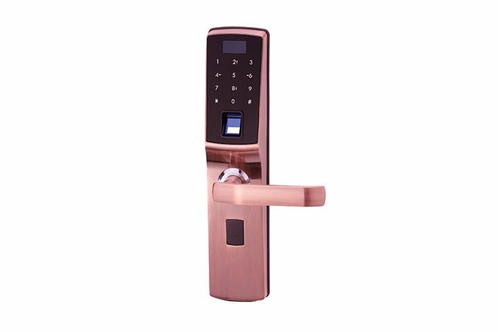 指纹+密码智能防盗锁